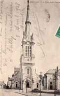 Orleans Eglise Saint-Marceau Envoyee Par Pionnier Alfred Leblanc Apres Vol En Ballon Aviation 1908 - Balloons