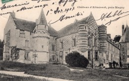 Magny Chateau D'Alincourt Envoyee Par Pionnier Alfred Leblanc Apres Vol En Ballon Aviation 1907 - Balloons