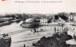 Rennes Place De La Mission Envoyee Par Aeronaute Bastier Apres Vol En Ballon Aviation 1906 - Balloons