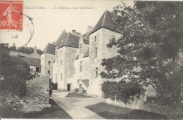 Culan Chateau Cher Envoyee Par Aeronaute Corpel Apres Vol En Ballon Aviation 1908 - Balloons