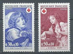France YT N°1700/1701 Croix-Rouge 1971 Oeuvres De Greuze Neuf ** - France