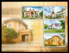 Thailand 2010 - Souvenir Sheet Thai Heritage Conservation Day / Palace - Thailand