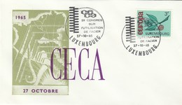 1965 LUXEMBOURG CECA Uses Of STEEL CONGRESS EVENT COVER Stamps EUROPA European Community Inudstry - Luxembourg