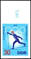 9089 5 - 30 Pfg Olympische Winterspiele Kpl. Als Geschnittene Phasendrucke, Je Mit Bogenrand, Tadellos Postfrisch, Unsig - Germany