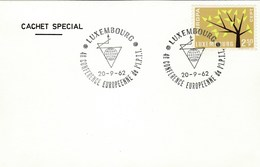 1962 LUXEMBOURG EVENT European  IPTT CONFERENCE Card Europa Stamps Telecom - Luxembourg