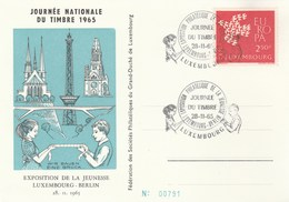 1965 LUXEMBOURG Youth PHILATELIC EXHIBITION EVENT CARD  Stamp Day, Stamps Europa Cover - Esposizioni Filateliche