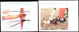 10026 2 - 10 Din. Olympiade Ungezähnt, Einheitlich Aus Der Rechten Oberen Bogenecke, Postfrisch, Tadellos, Katalog: 1824 - Unclassified