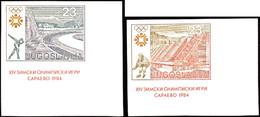 10071 4 - 23,70 Din. Olympische Winterspiele Sarajevo Ungezähnt Aus Der Bogenecke, Postfrisch, Tadellos, Katalog: 2007/1 - Yugoslavia