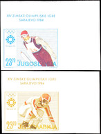 10078 4 - 23,70 Din. Olympische Winterspiele Sarajevo Ungezähnt, Einheitlich Aus Rechter Oberer Bogenecke, Postfrisch, T - Unclassified
