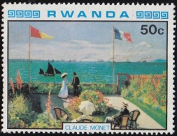 RWANDA - Scott #985 Seaside Garden By Monet / Mint NG Stamp - Altri