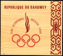 "10483 Ministerblock ""Olympiade 1968 Mexico"" Im Entsprechendem Folder, Tadellos Ungebraucht., Katalog: Bl.15 - Dahomey (1899-1944)"