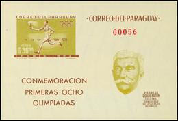 10533 36 G. Gezähnte Und Ungezähnte Flugpost-Blockausgabe Internationale Zusammenarbeit Im Sport, Abbildung Olympiade-Fa - Unclassified