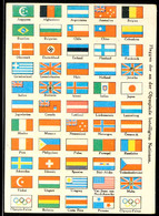 "10560 1936, Sommer-Olympiade, Color-Bildpostkarte ""Flaggen Der An Der Olympiade Beteiligten Nationen"" Mit Olympiade-Sond - Postcards"