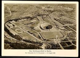 "10562 1936, Sommer-Olympiade, Bildpostkarte ""Das Reichssportfeld"" Mit Olympia-Sondermarke Und SST ""BERLIN OLYMPIA-STADIO - Postcards"
