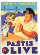 19204-LE-ALIMENTAIRE--COMME A MARSEILLE...PASTIS OLIVE-Marc - Autres