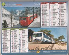 CALENDRIER ALMANACH CARTIER BRESSON 59 NORD 2015 - TRAINS JAUNE, PAIMPOL, PONTRIEUX, MONTENVERS, U TRINIGHELLU.......... - Calendars