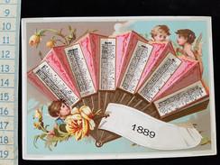 Chromo Calendrier, 1889,  Pub Maison Haguenauer , Premier Semestre - Calendars