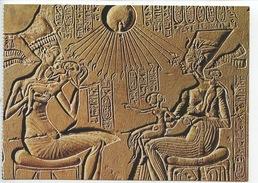 Art Egypte : Aménophis IV Sa Femme Nefertiti Et Ses Filles XVIIIe Dynastie -  Cp Vierge (Staatliche Berlin) - Antiquité