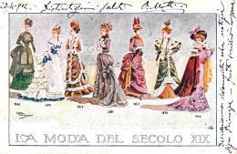 [DC11214] CPA - LA MODA DEL SECOLO XIX - ILL. LUCA FORNARI - PERFETTA - Viaggiata 1902 - Old Postcard - Moda