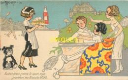 Publicité Illustrée Par Maréchaux Pour Les Biscuits Olibet, Partie De Tennis, Belle Carte Pas Courante - Publicité