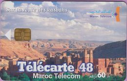 Télécarte Maroc °°   60 Dh - Telecarte 48 - Route Des Kasbahs - 0601 - TBE - Maroc