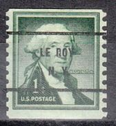 USA Precancel Vorausentwertung Preo, Bureau New York, Le Roy 1054-61 - United States