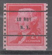 USA Precancel Vorausentwertung Preo, Bureau New York, Le Roy 1055-61 - Precancels