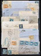 0001/ France LOT DE TIMBRES CLASSIQUE Napoleon Ceres Bordeaux Lettres Et Fragments Etat Tres Correct VOIR SCANS - France