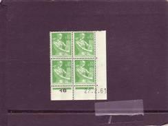 N° 1231 - 0,10F PAYSANNE - F De E+F - 3° Tirage Du 8.2.61 Au 22.2.61 - Dernier Jour - - Coins Datés