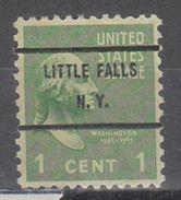 USA Precancel Vorausentwertung Preo, Bureau New York, Little Falls 804-71 - Precancels