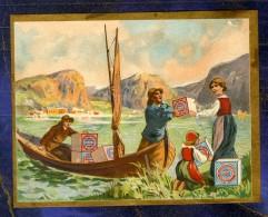 Chromo Huntley & Palmers Pêcheurs Bateau Pêche Fishermen Victorian Trade Card - Confiserie & Biscuits