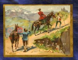 Chromo Huntley & Palmers Randonnée âne Mulet Donkey Trecking Vintage Trade Card - Confiserie & Biscuits