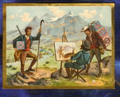 Chromo Huntley & Palmers Peintre Painter Montagnards Mountain Vintage Trade Card - Confiserie & Biscuits