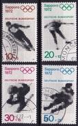 BRD 1972 Olympische Spielen Sapporo Und München Kompletter Satz Michel 680 / 683 - Gebruikt