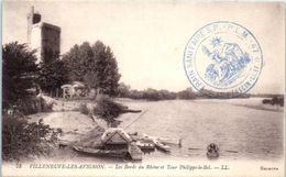 30 - VILLENEUVE Les AVIGNON -- Les Bords Du Rhone Et Tour Philippe Le Bel - Villeneuve-lès-Avignon