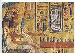 Art Egypte : La Reine Nefertari Jouant Aux échecs XIXè Dynastie  -  Cp Vierge - Antiek