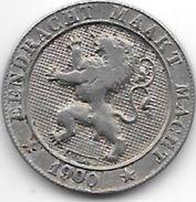*belguim 5 Centimes 1900 Dutch  Double Stroke On 190,dubbelslag Op 190 Rare !! Moeilijk Op Foto Maar Duidelijk Op Munt - 1865-1909: Leopold II