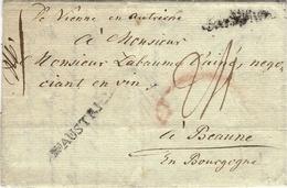 """1784- Letter From Wien To Beaune ( France )  """" D'AUTRICHE """"   + """" De Vienne En Autriche """" - Autriche"""