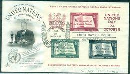 O.N.U. N.Y. BF N°1 SUR FDC . TB. Cote 112.00 € . - New-York - Siège De L'ONU