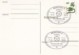 Germany Postal Stationary 1974 FIFA World Cup   Football - München Germany Champions   (DD14-18) - Coppa Del Mondo