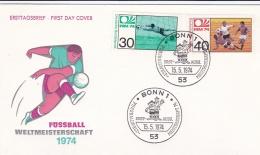 Germany Cover 1974 FIFA World Cup   Football - FDC Bonn   (DD14-18) - Coppa Del Mondo