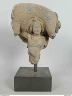Fragment En Schiste «Le Lancer De L'Eléphant Mort» / Art Gréco-bouddhique Du Gandhara (1er-Ve Siècle) / Bouddhisme - Art Oriental