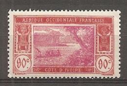 COTE IVOIRE - Yv. N°  81 *  90c   Lagune  Cote  16 Euro  BE   2 Scans - Côte-d'Ivoire (1892-1944)