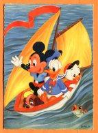 NOV486, Mickey, Donald, Voilier, W. L. P. , GF, Circulée 1964 Sous Enveloppe - Non Classificati