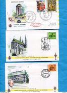 "Pape-Jean Paul II--3 Enveloppes Commémoratives *AZERBAIJAN-viaggio Apostolico 22 23"" Maggio2000- - Papas"
