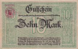 Billet De 10 Mark - Ville D' Annaberg - [ 3] 1918-1933 : République De Weimar