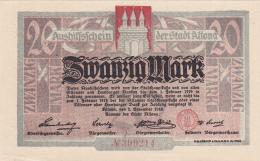 Billet De 20 Mark - Stadt ALTONA - [ 3] 1918-1933 : République De Weimar