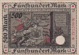 Billet De 500 Mark - Stadt MÜLHAUSEN - [ 3] 1918-1933 : Repubblica  Di Weimar
