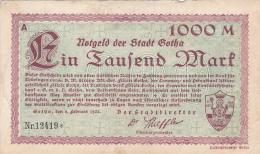 Billet De 1000 Mark - Stadt GOTHA - 1925 - [ 3] 1918-1933 : République De Weimar