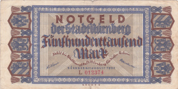 Billet De 500000 Mark  - Stadt NÜRNBERG - 1923 - [ 3] 1918-1933 : République De Weimar